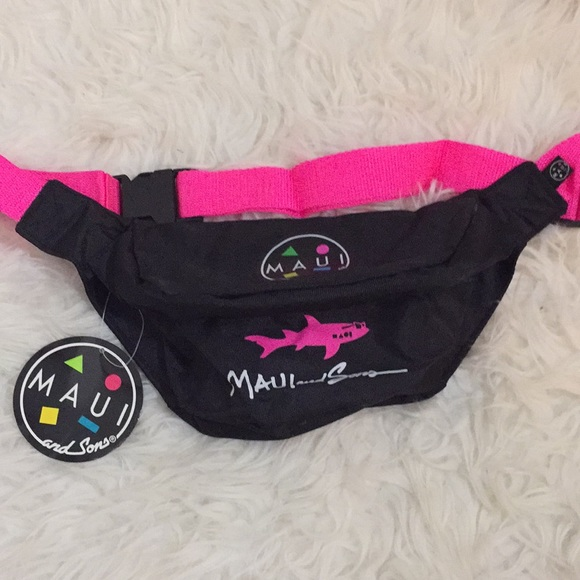 c5de35d905c15 Throwback Maui and Sons hot pink fanny pack NWT NWT